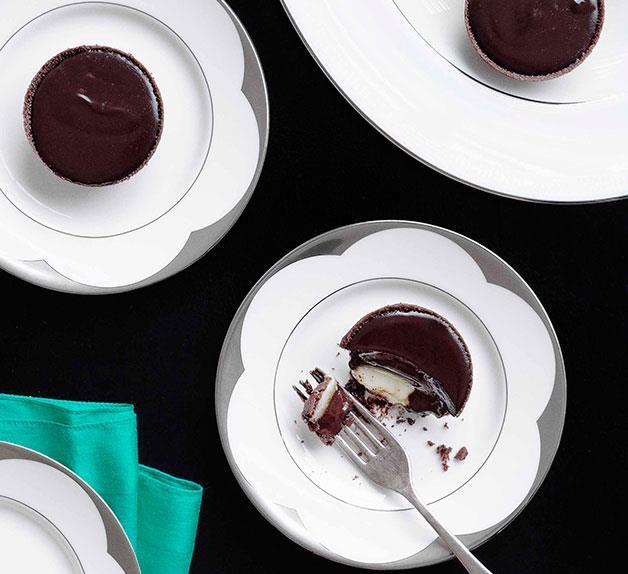 Mint chocolate tarts