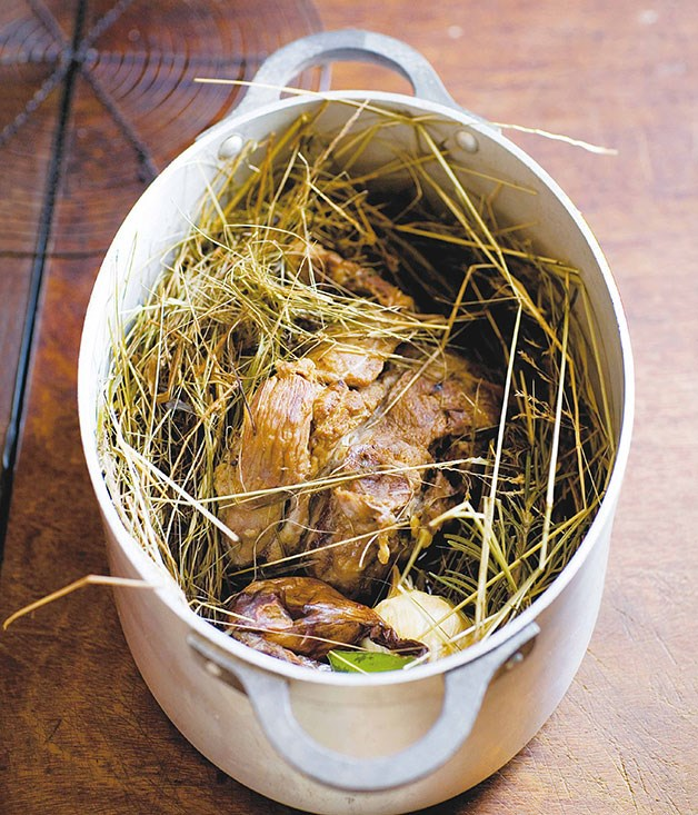 **Epaule en cocotte de foin (lamb shoulder in a bed of straw)** **Epaule en cocotte de foin (lamb shoulder in a bed of straw)**    [View Recipe](http://www.gourmettraveller.com.au/stephane-reynaud-epaule-en-cocotte-de-foin-lamb-shoulder-in-a-bed-of-straw.htm)     PHOTOGRAPH **FREDERIC LUCANO**