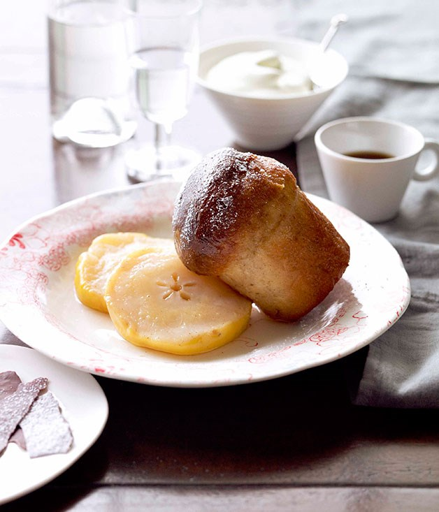 **Babas with beurre Bosc pears and eau de vie** **Babas with beurre Bosc pears and eau de vie**    [View Recipe](http://www.gourmettraveller.com.au/tony-bilson-babas-with-beurre-bosc-pears-and-eau-de-vie.htm)     PHOTOGRAPH **CHRIS CHEN**