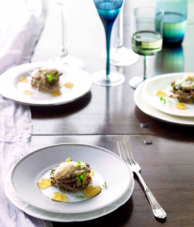 **Petite salade of oxtail and Sydney rock oyster** **Petite salade of oxtail and Sydney rock oyster**    [View Recipe](http://www.gourmettraveller.com.au/tony-bilson-petite-salade-of-oxtail-and-sydney-rock-oyster.htm)     PHOTOGRAPH **CHRIS CHEN**
