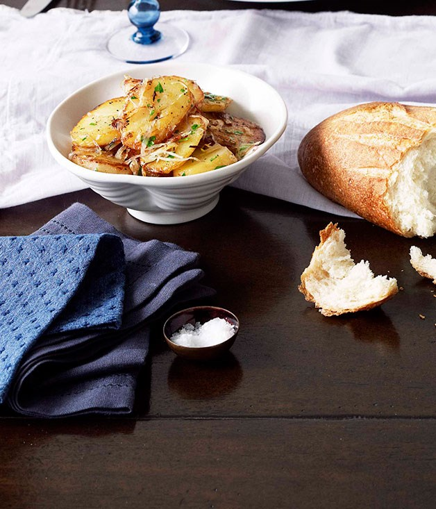 **Lyonnaise potatoes** **Lyonnaise potatoes**    [View Recipe](http://www.gourmettraveller.com.au/tony-bilson-lyonnaise-potatoes.htm)     PHOTOGRAPH **CHRIS CHEN**