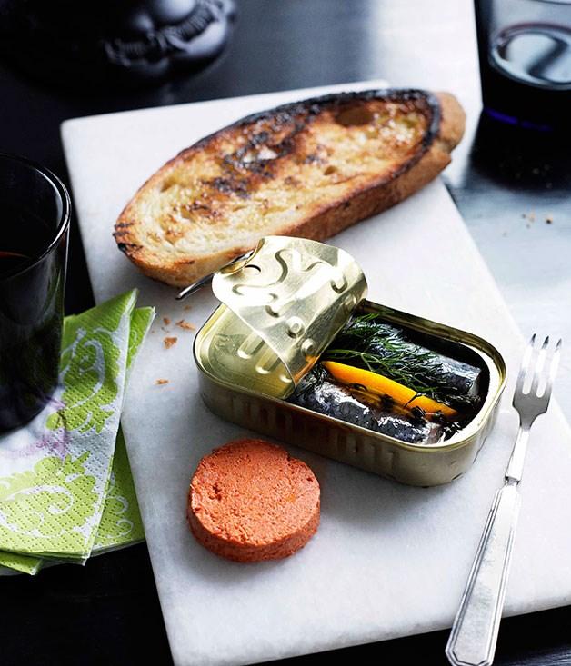 **Sardines with tomato pâté** **Sardines with tomato pâté**    [View Recipe](http://gourmettraveller.com.au/sardines-with-tomato-pate.htm)     PHOTOGRAPH **BEN DEARNLEY**