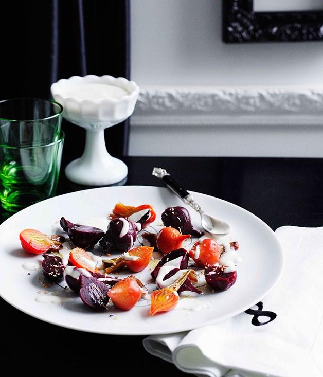 **Beetroot salad with yoghurt and oregano dressing**