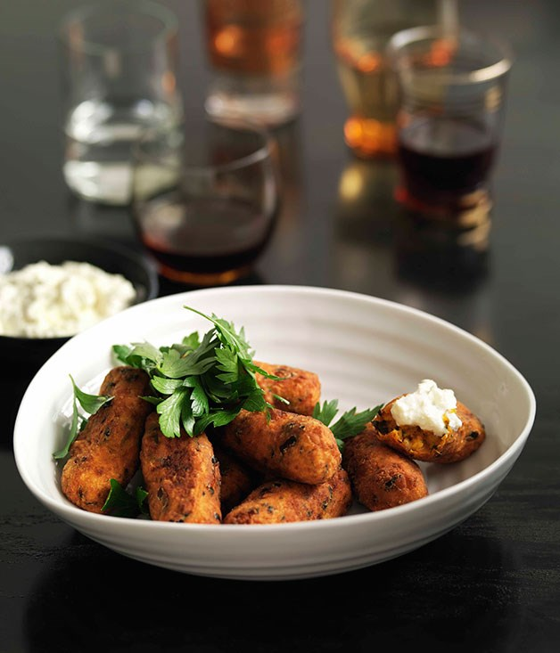 Shane Delia: Carrot and apricot croquettes with garlic and lemon ricotta
