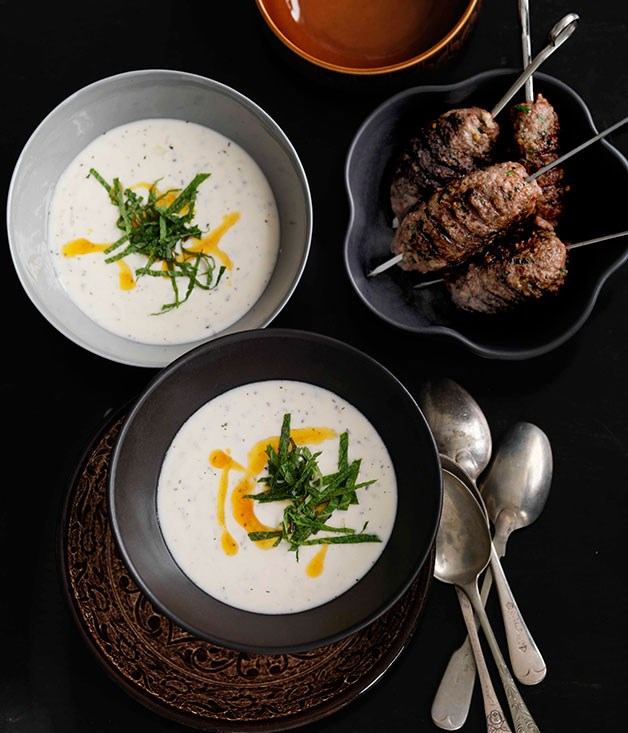**Guitta Maroun's mint and yoghurt soup with grilled goat kofta** **Guitta Maroun's mint and yoghurt soup with grilled goat kofta**    [View Recipe](http://www.gourmettraveller.com.au/shane-delia-guitta-marouns-mint-and-yoghurt-soup-with-grilled-goat-kofta.htm)     PHOTOGRAPH **WILLIAM MEPPEM**