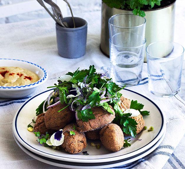 George Calombaris: Alexandrian falafels with hummus