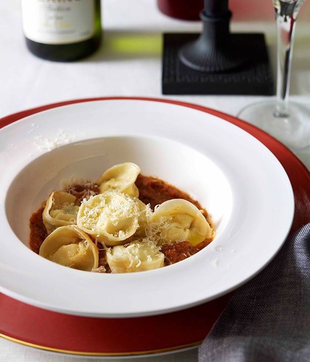 **Tortellini di patate e menthe con sugo** **Tortellini di patate e menthe con sugo**    [View Recipe](http://www.gourmettraveller.com.au/tortellini-di-patate-e-menthe-con-sugo.htm)     PHOTOGRAPH **CHRIS CHEN**