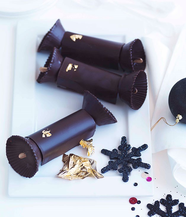 "**Gianduja Christmas crackers** _Gourmet Traveller_ food director Emma Knowles: ""Having such a sweet tooth, make mine two courses of dessert please! **Gianduja Christmas crackers** (and no, I don't care that it's not Christmas - they rock!)...    [View Recipe](http://www.gourmettraveller.com.au/adriano-zumbo-gianduja-christmas-crackers.htm)"