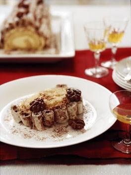Chocolate and Grand Marnier bûche de Noël