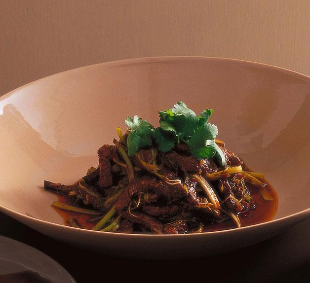 Neil Perry: Stirfried beef with Sichuan peppercorns and sweet bean sauce