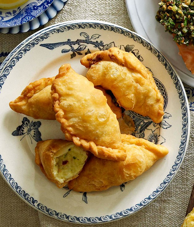 Salt cod empanadillas