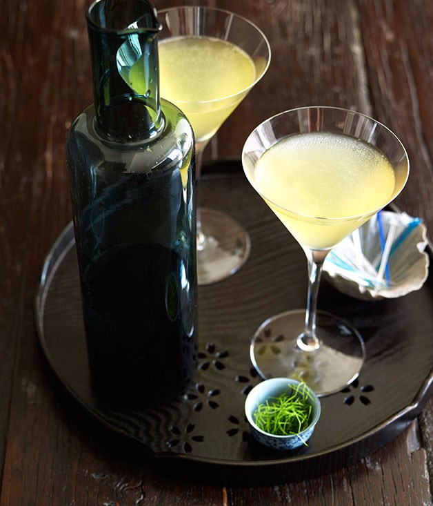 Kaffir Lime and Green Apple Martini