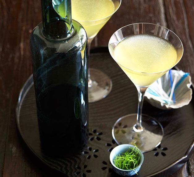 Kaffir Lime and Green Apple Martini