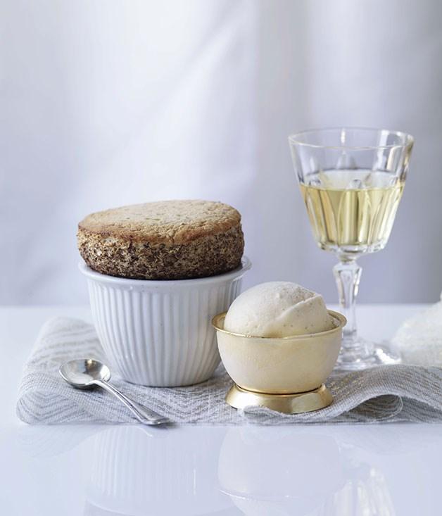 Prune and Armagnac soufflés