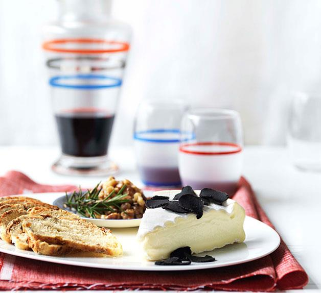 Triple-cream cheese with Australian truffles, honeyed walnuts and fruit bread