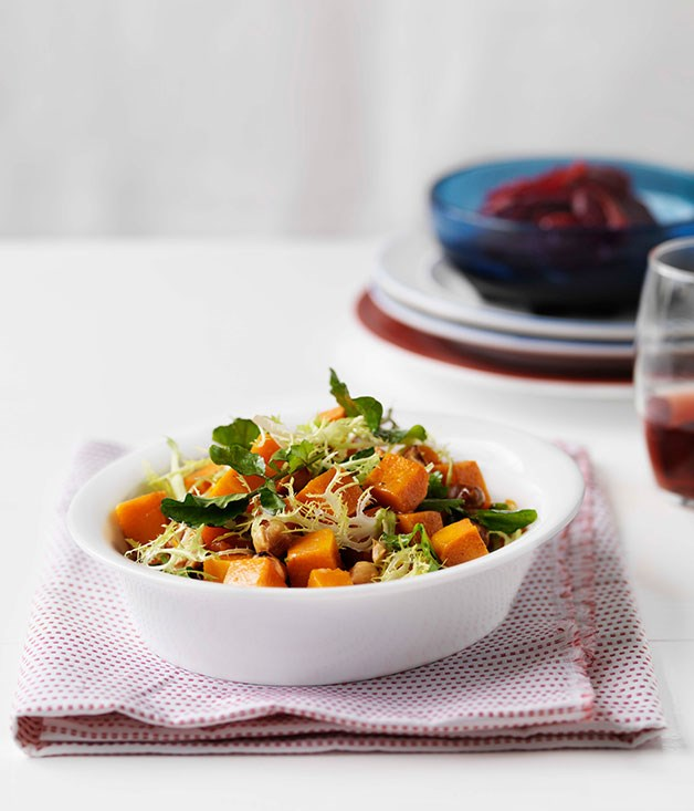Butternut pumpkin, hazelnut and blood orange salad