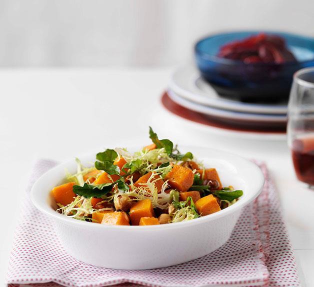 Butternut pumpkin, hazelnut and blood orange salad