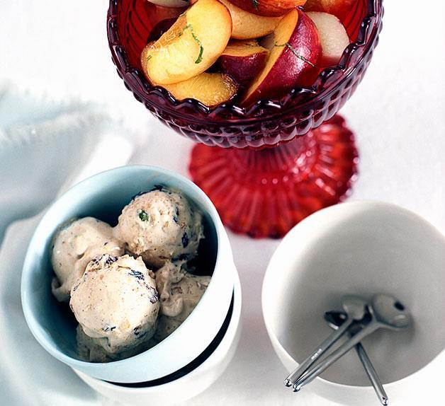 Peach and nectarine salad