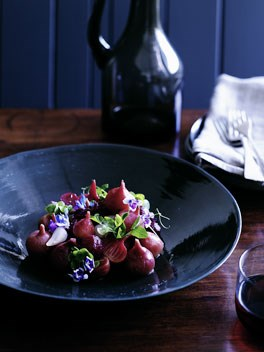 Salad of roasted pink beetroot