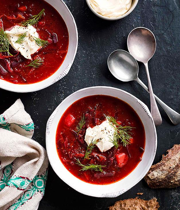 "**[Borsch](https://www.gourmettraveller.com.au/recipes/browse-all/borsch-8784|target=""_blank"")**"
