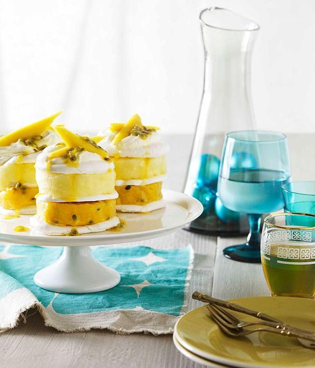 Tropical fruit sorbet vacherin