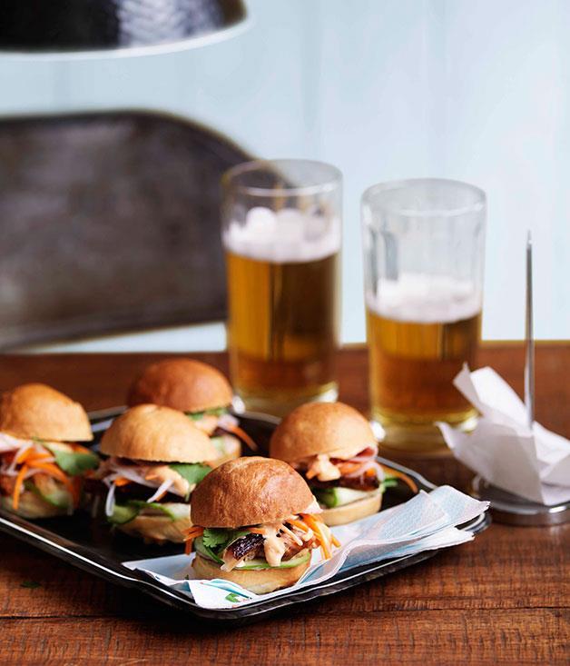 "**[Mini pork banh mi by Ms G's](https://www.gourmettraveller.com.au/recipes/chefs-recipes/ms-gs-mini-pork-banh-mi-9018|target=""_blank"")**"