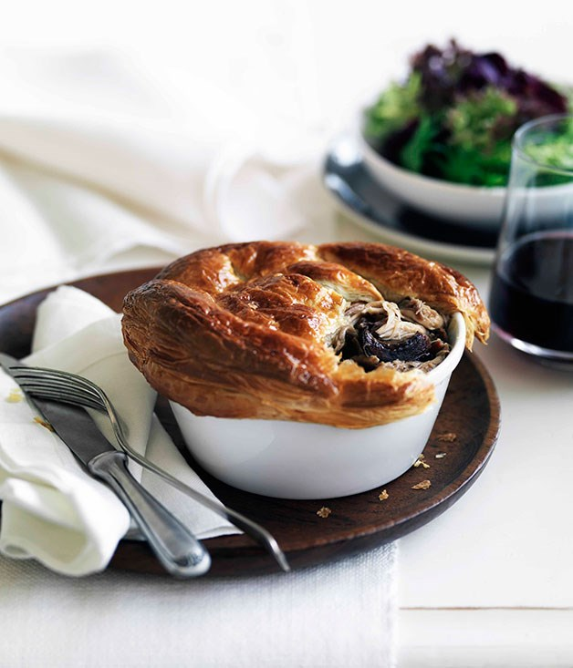 Rabbit and wild mushroom pies