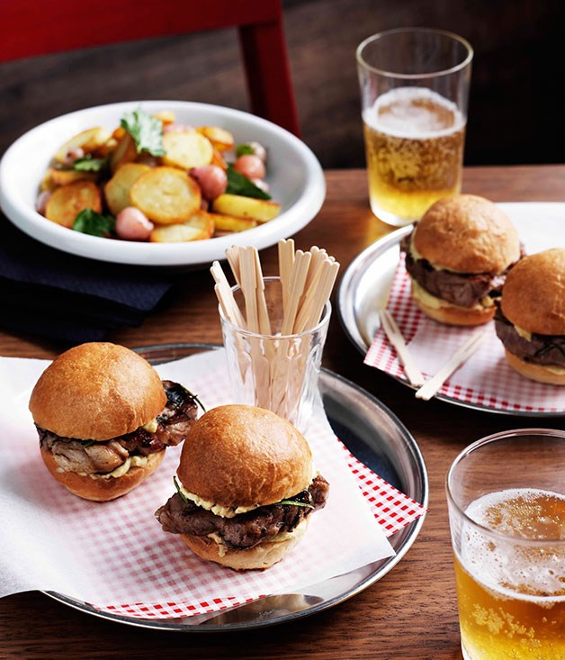 Pork neck sliders