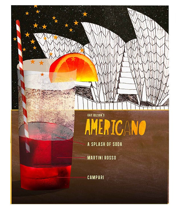 **Americano** **Americano**    [View Recipe](http://www.gourmettraveller.com.au/gay-bilsons-americano.htm)