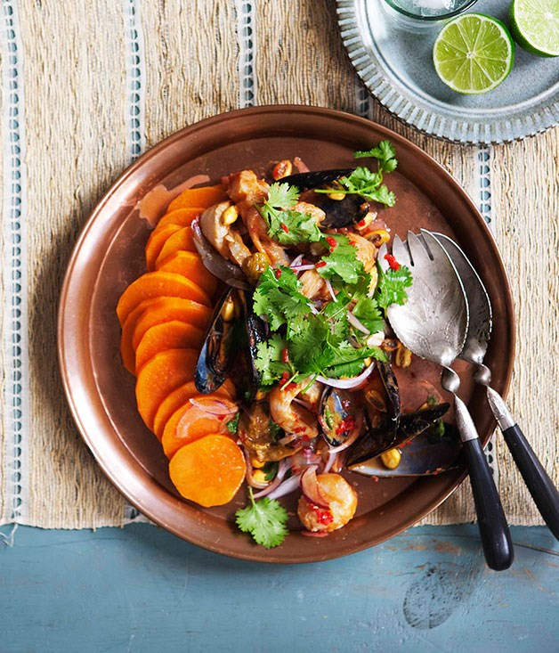 Ceviche of Australian seafood with rocoto