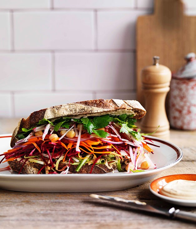 "[**The ultimate salad sandwich**](https://www.gourmettraveller.com.au/recipes/browse-all/the-ultimate-salad-sandwich-11514|target=""_blank"")<br> We've combined pickles, chickpeas and lots of fresh ingredients for the best salad sandwich ever."