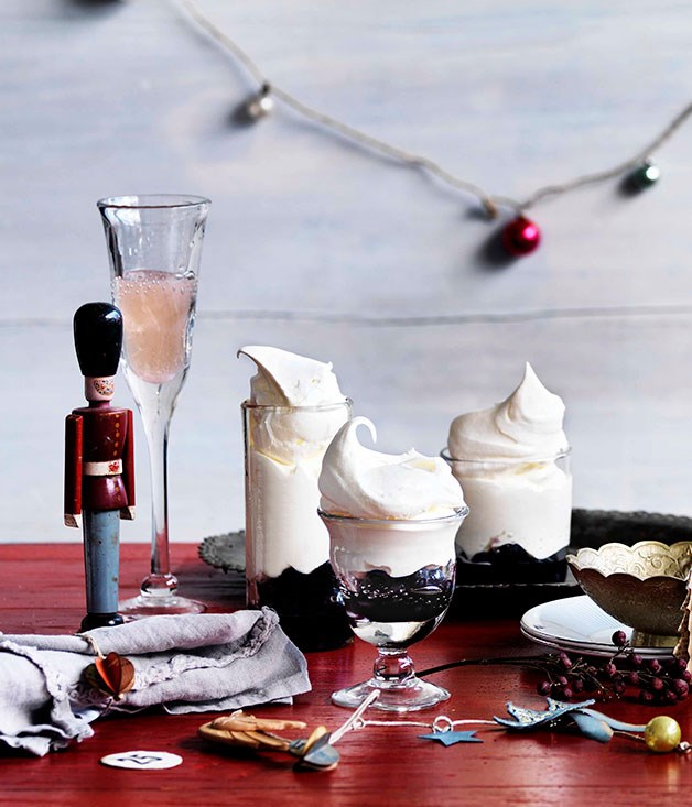 "[**Blueberry upside-down pavlovas**](https://www.gourmettraveller.com.au/recipes/browse-all/blueberry-upside-down-pavlovas-10893|target=""_blank"") <br><br>"