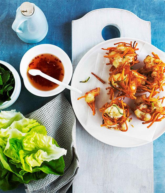 """[**Vietnamese prawn cakes**](https://www.gourmettraveller.com.au/recipes/browse-all/vietnamese-prawn-cakes-10904