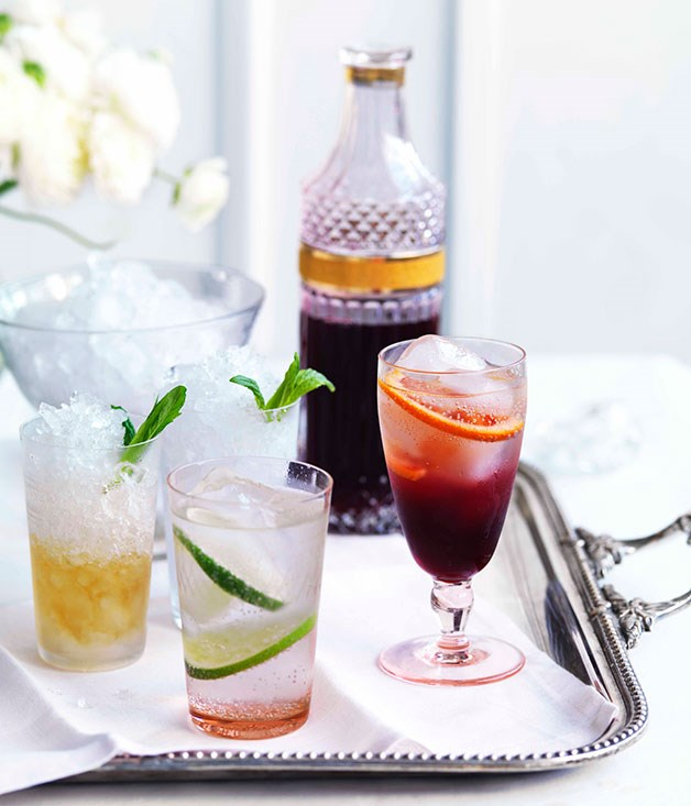 "**Cocktails**<br><br> [**Mint Julep**](http://gourmettraveller.com.au/the-great-gatsby-mint-julep.htm|target=""_blank"")<br><br>    [**Gin Rickey**](http://gourmettraveller.com.au/the-great-gatsby-gin-rickey.htm