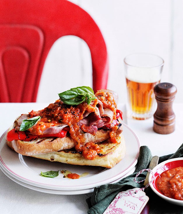 "[**Fried ham with homemade tomato sauce and grilled bread**](https://www.gourmettraveller.com.au/recipes/browse-all/stephanie-alexanders-fried-ham-with-homemade-tomato-sauce-and-grilled-bread-10918|target=""_blank"")<br><br> ""While I do love a good ham sandwich, sometimes the cook needs to come up with something different,"" says Stephanie Alexander. ""The following recipe is based on an idea from Elizabeth David who claims it is a Corsican way to enjoy ham. This dish is gutsy, incredibly simple and a great post-Christmas favourite for young and older at my place."""