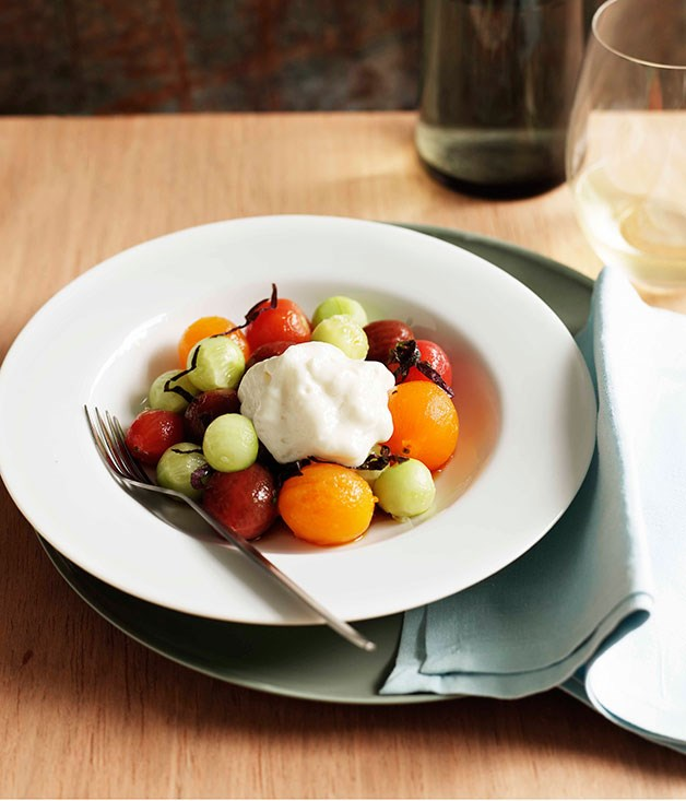 **Tomato salad with shiso and cucumber**