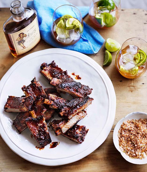 "[**Sticky pork ribs with rapadura salt**](https://www.gourmettraveller.com.au/recipes/browse-all/sticky-pork-ribs-with-rapadura-salt-10980|target=""_blank"")"
