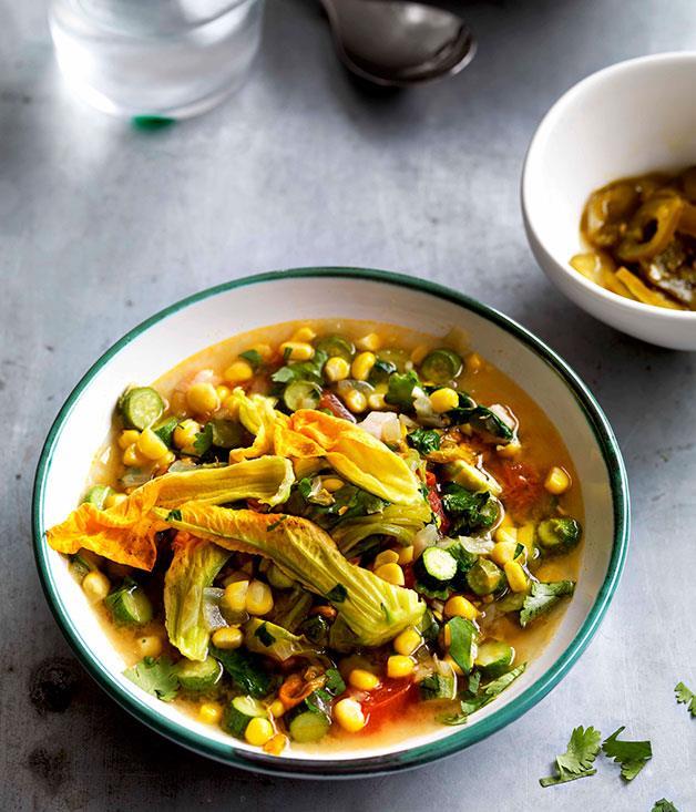 "[**Sopa de flor de calabaza**](https://www.gourmettraveller.com.au/recipes/browse-all/sopa-de-flor-de-calabaza-10989|target=""_blank"")"