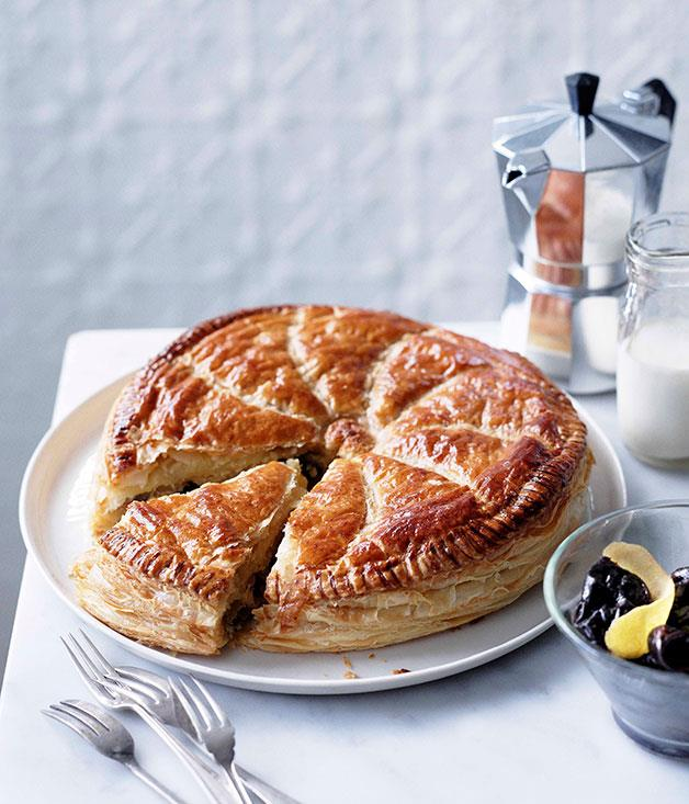 "[Almond Pithiviers with Armagnac prunes](https://www.gourmettraveller.com.au/recipes/browse-all/almond-pithiviers-with-armagnac-prunes-11001|target=""_blank"")"