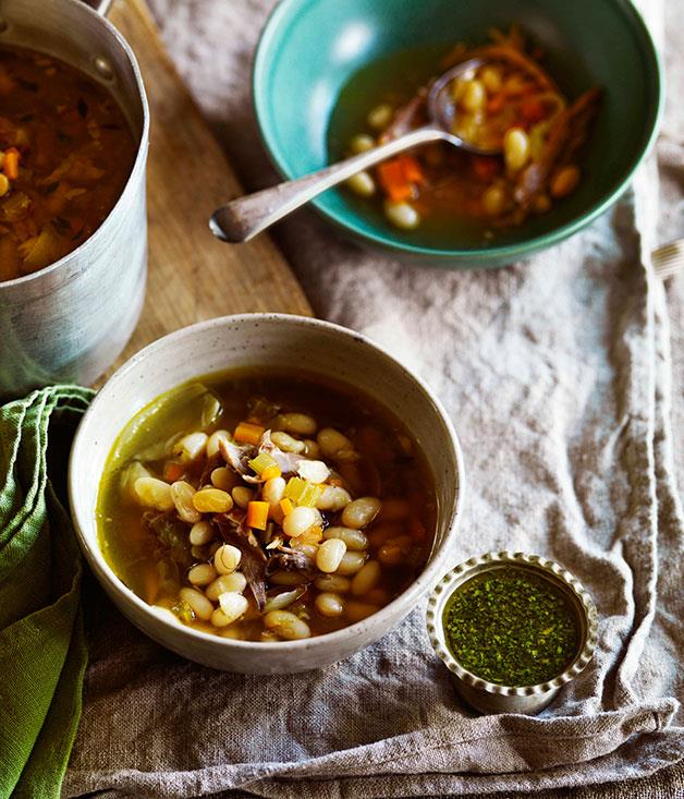 **** **Confit duck, onion and bean soup with persillade**    [View Recipe](http://gourmettraveller.com.au/confit-duck-onion-and-bean-soup-with-persillade.htm)