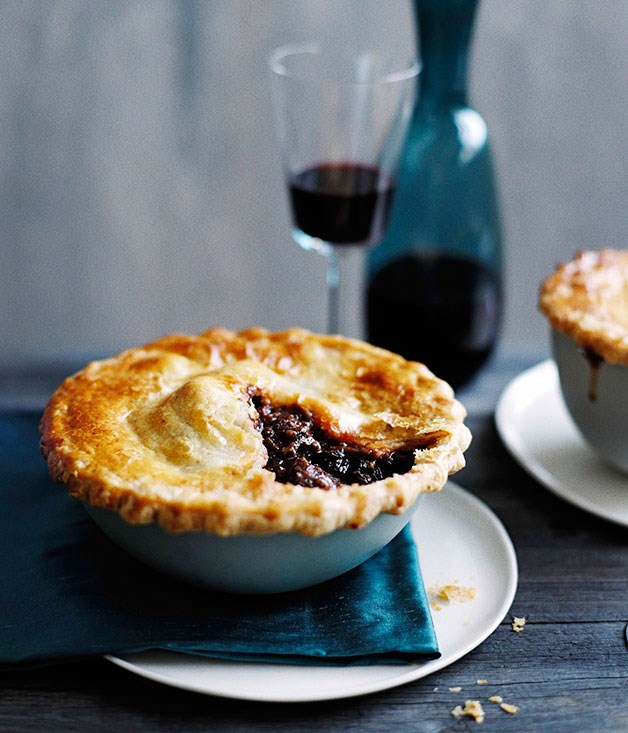 Beef, red wine and cavolo nero pies