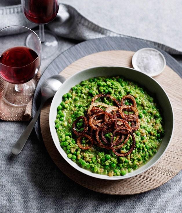 **Mushy peas** **Mushy peas**    [View Recipe](http://gourmettraveller.com.au/mushy-peas.htm)     PHOTOGRAPH **BEN DEARNLEY**