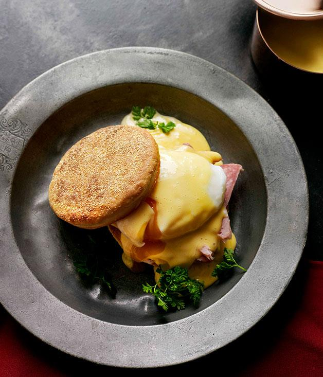 **Eggs, ham and English muffins** **Eggs, ham and English muffins**    [View Recipe](http://gourmettraveller.com.au/eggs-ham-and-english-muffins.htm)     PHOTOGRAPH **JOHN LAURIE**