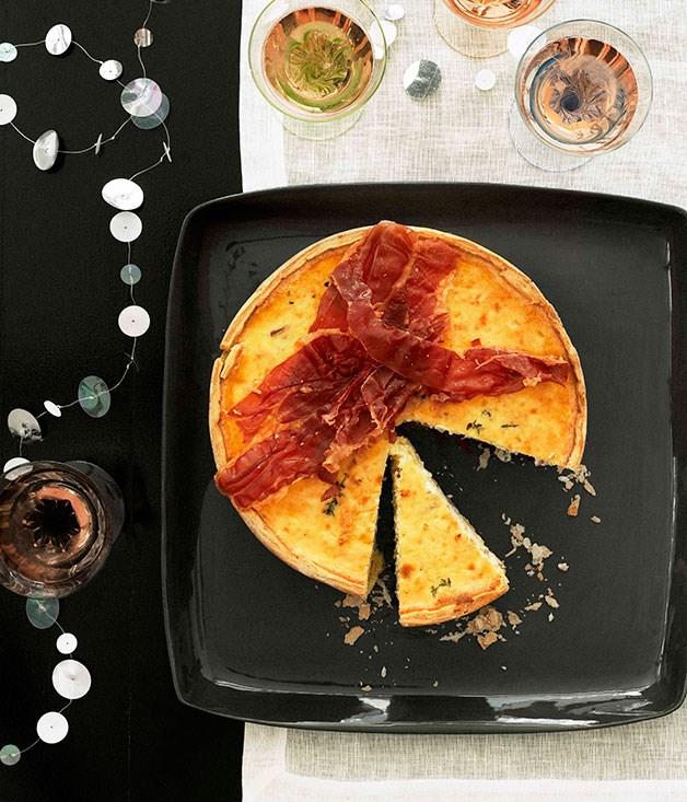 Gruyère and prosciutto sour cream tart