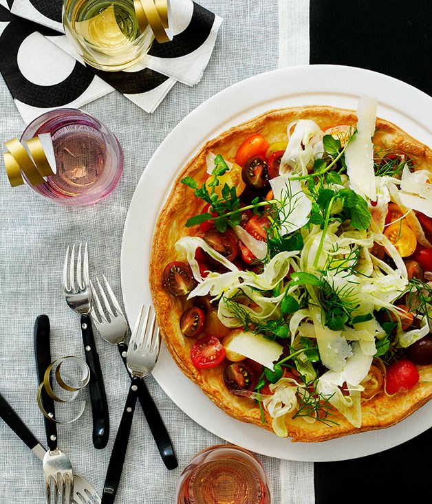 Tomato, fennel and parmesan tart