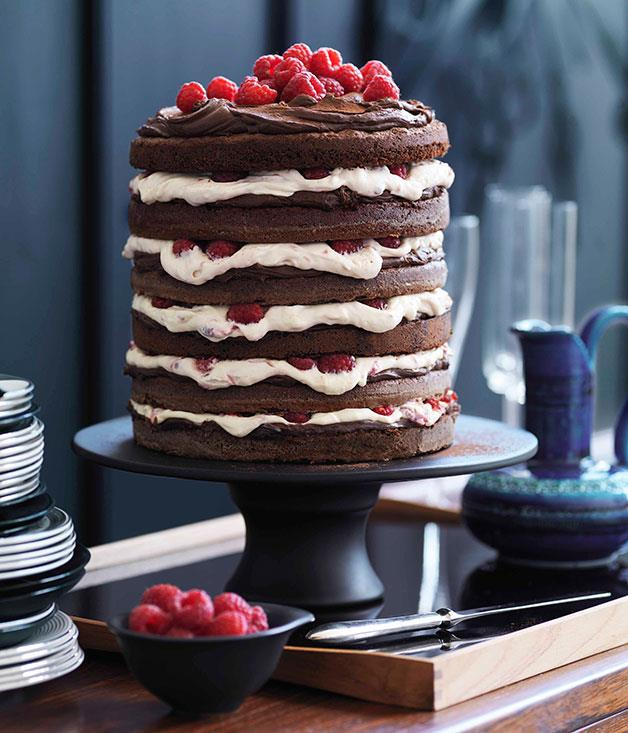 "[**Chocolate raspberry layer cake**](http://gourmettraveller.com.au/chocolate-raspberry-layer-cake.htm|target=""_blank"")"