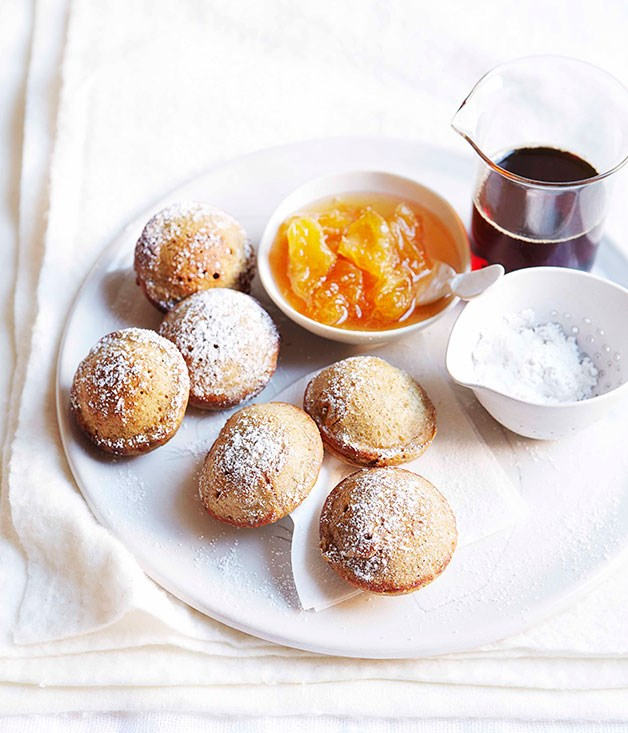 Poffertjes with mandarin jam