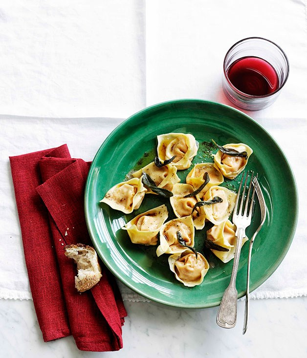 Pumpkin cappellacci with sage browned butter