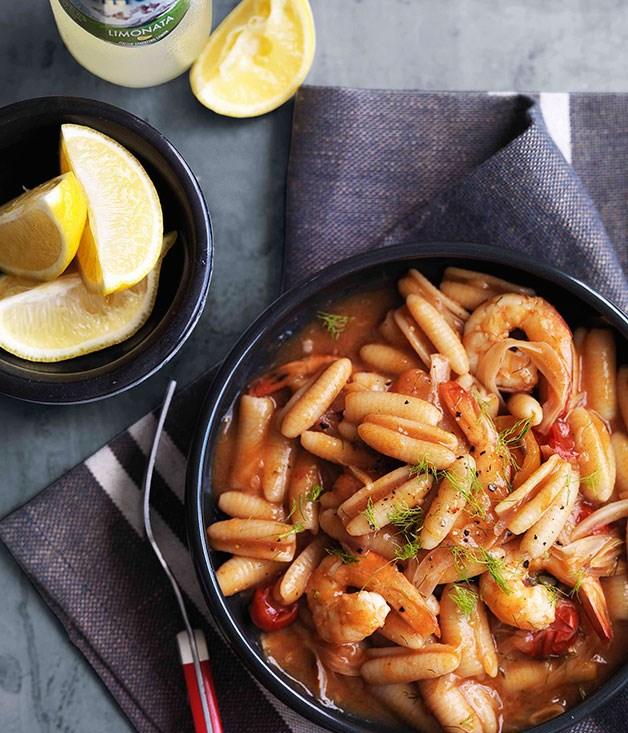 Prawn and tomato gnocchetti Sardi