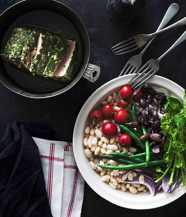 Bean, fennel, rocket and tuna
